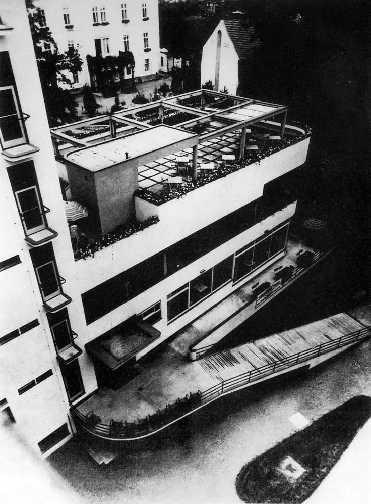 Machnáč Sanatorium, Jaromír Krejcar, Trenčianske Teplice, Czecho-Slovakia 1930-32 (today Slovakia)
