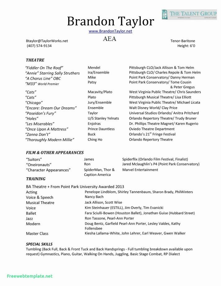 Theater Resume Template Microsoft Word Technical Theatre Resume Template Download Resume Letter Templates