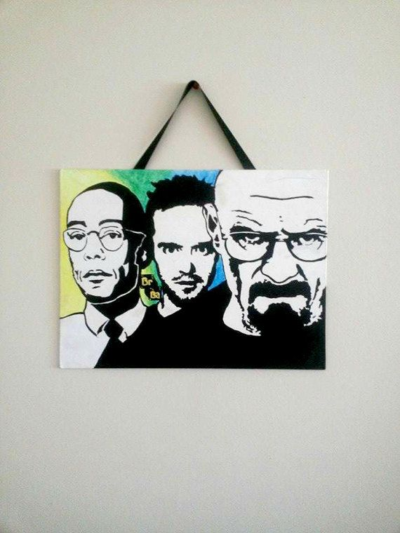 Breaking Bad Painting On Canvas - Walter White - Jesse Pinkman - Gus Fring - Breaking Bad Wall Decor Art
