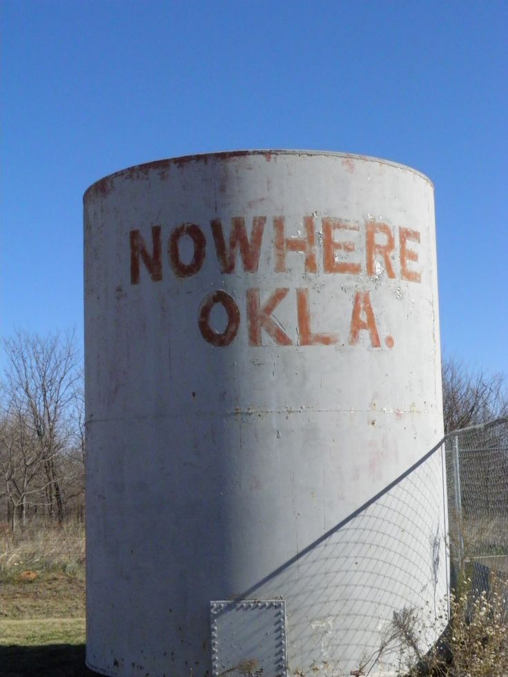 you've never been anywhere till you've been NoWhere. Nowhere, Okla. Photography by Weldon Kilpatrick