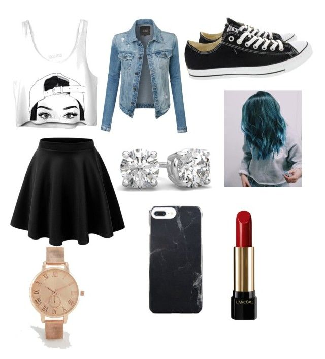 """""""Made in Polyvore App www.Polyvore.com"""" by ariellesillmon on Polyvore featuring LE3NO, Converse, Lancôme and ASOS Curve"""