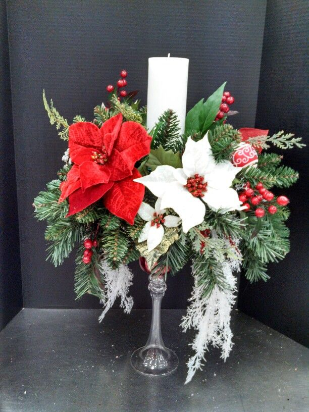 Christmas candle centerpiece at michaels