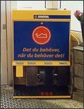 Maszyna do czyszczenia butów na stacjach Statoil w Szwecji