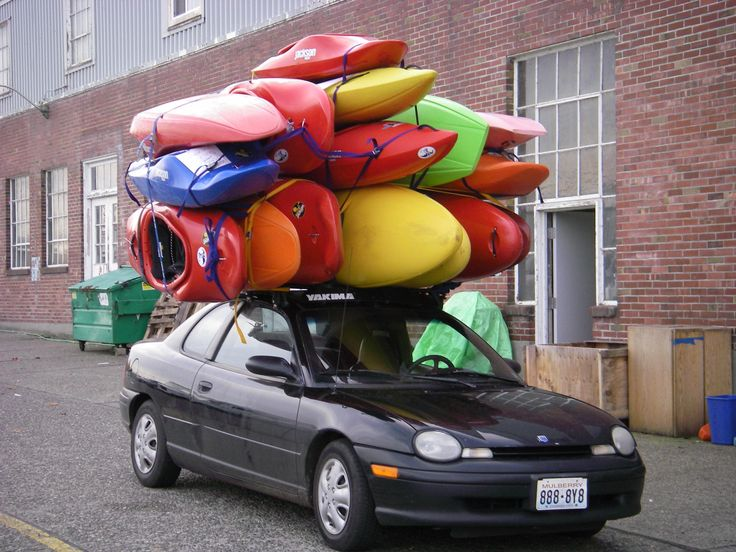 Image result for epic fail kayaks on car racks pictures