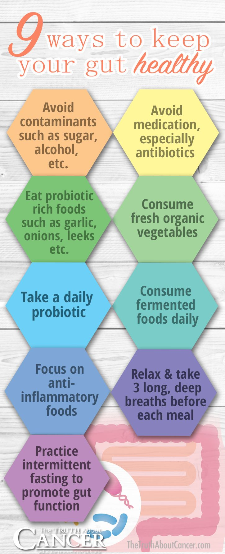 Infections of the gut such as leaky gut syndrome and colitis induce carcinogenic activity from bacteria. Maintaining healthy conditions within the digestive tract is as easy as improving your digestion. Click on the image to finda list of strategies that can provide you with effective techniques to improve the health of your gut microflora and offer anti-cancer benefits to your whole body!