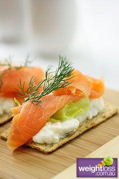 Atkins Diet Recipes: Cottage Cheese & Salmon Crispbread - weightloss.com.au