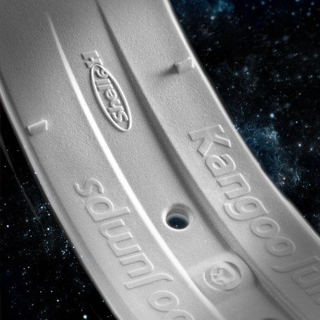 The Shells have the Kangoo Jumps logo embossed on each end of the outside of the curve, with the brand name embossed on the underside. #TrustTheOriginal