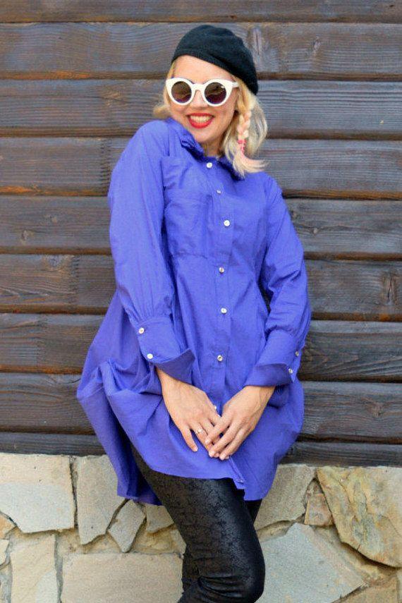 Purple Cotton Blouse / Purple Shirt / French Cuff Shirt TT64 https://www.etsy.com/listing/244389143/purple-cotton-blouse-purple-shirt-french?utm_campaign=crowdfire&utm_content=crowdfire&utm_medium=social&utm_source=pinterest