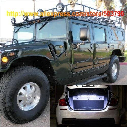 Бесплатная Доставка 18 дюймов 18leds Белый СВЕТОДИОД Магистральные Полосы Света Для Hummer H1 Wagon 1992-2006