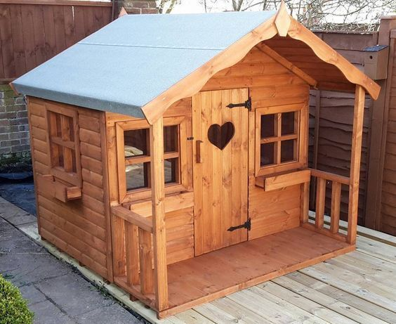 Best 25 wendy house ideas on pinterest girls playhouse for Wooden wendy house ideas