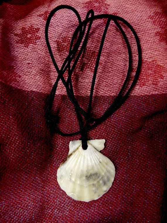 Beautiful handmade scallop seashell pendant with rich cream tones.