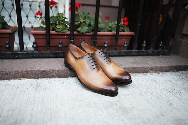 Step Up Your Shoe Game In The Aged Cognac Martin wholecut - Handmade In Italy - FREE Fedex Shipping & Returns!