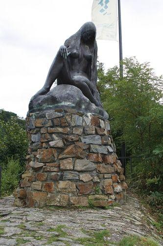 Lorelei (or Loreley) Statue, Rhine River, St. Goar, Germany