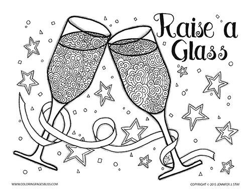 Adult Coloring Pages Adult Coloring Pages New year