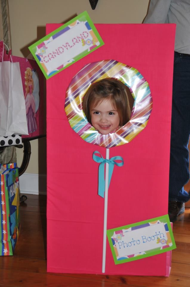 Candyland Party Photo Booth or make it shaped like a gingerbread house?