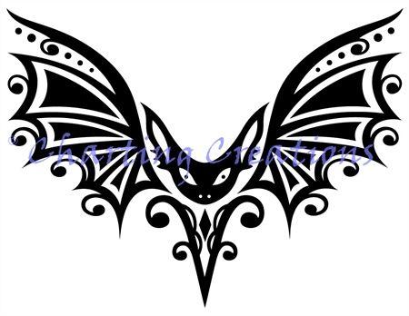 Tribal Bat Silhouette (Charting Creations)