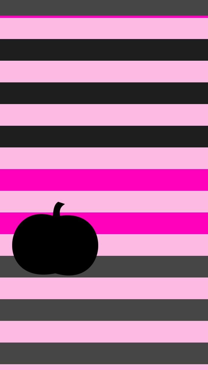 Pink halloween pumpkin stripe iphone wallpaper background - Pink zebra wallpaper for iphone ...