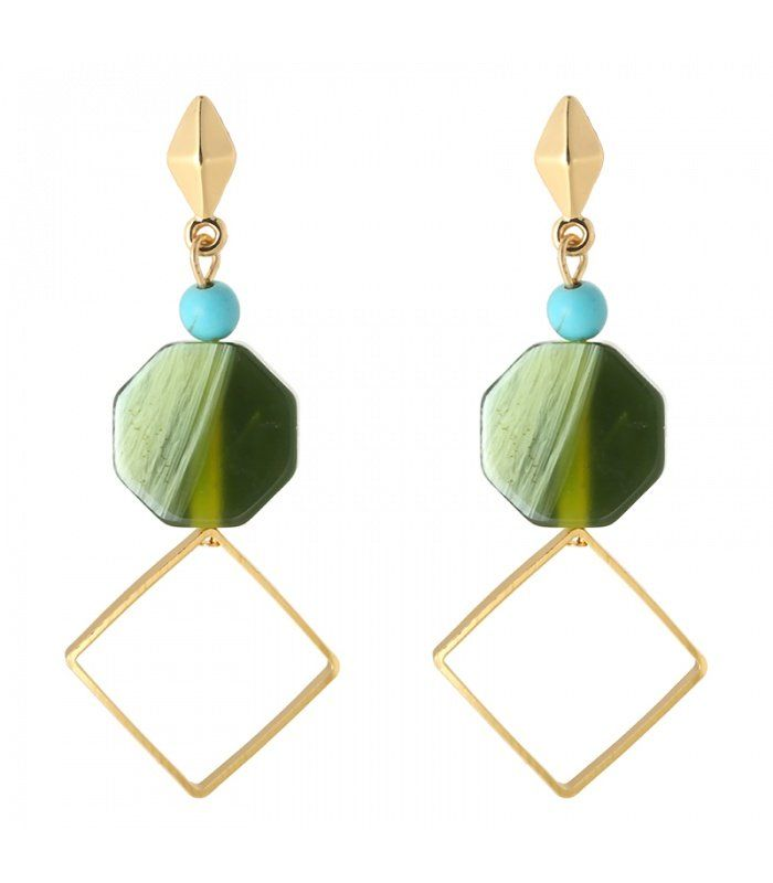 Groene mooie oorbellen|Mooie groene oorbellen koop je online|Snelle verzending | Yehwang fashion en sieraden