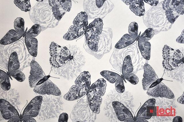 Kolekcja Butterfly w odsłonie black and white! #modern #fabrics #tkaniny #nadruk
