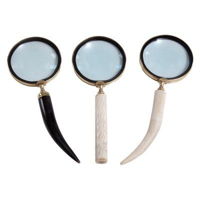 DecMode Metal Horn Magnifier - Set of 3 - 28329