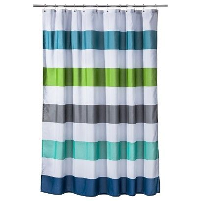 teal striped shower curtain. Circo Cool Rugby Stripes Shower Curtain  Best 25 Striped shower curtains ideas on Pinterest Grey striped