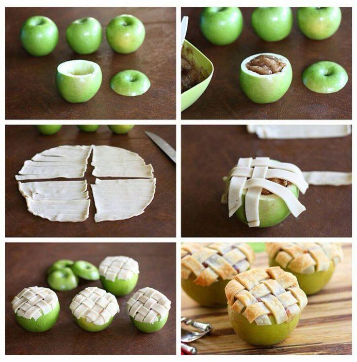 Une pomme feuilletée.