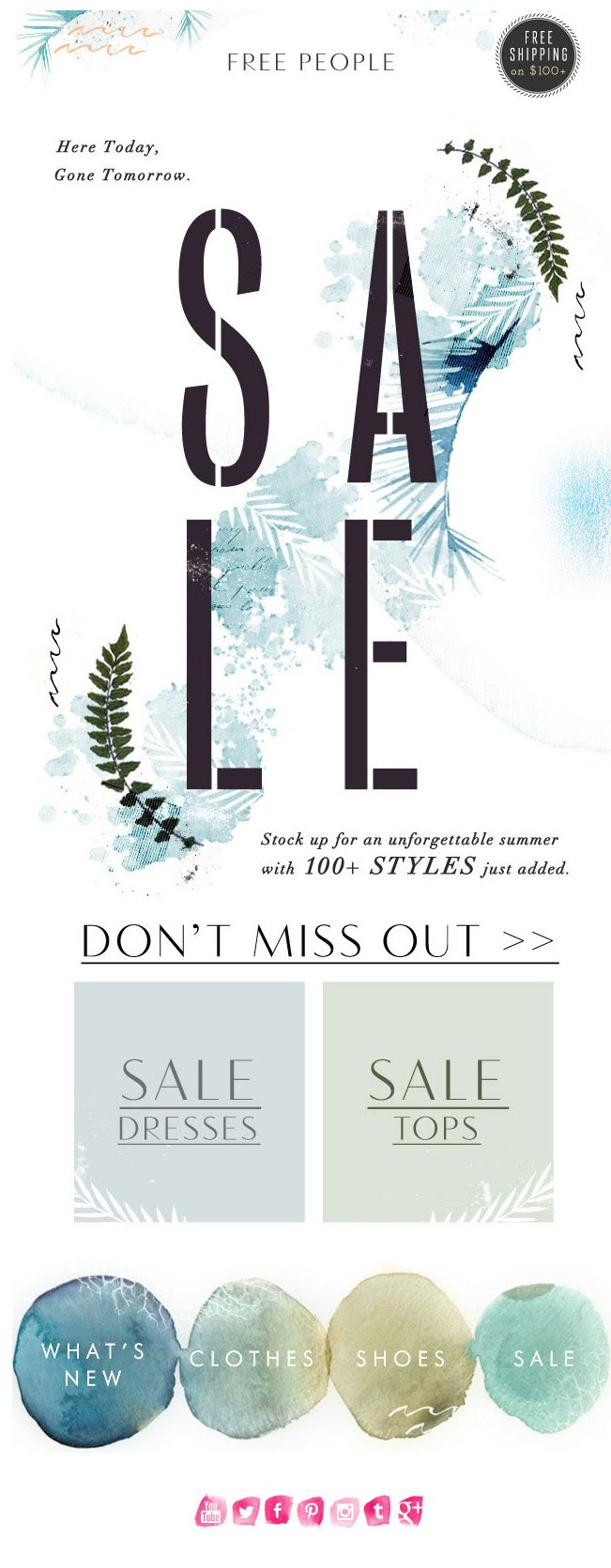 Free People : SALE + Typography