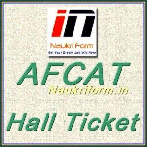 AFCAT Hall Ticket 2015
