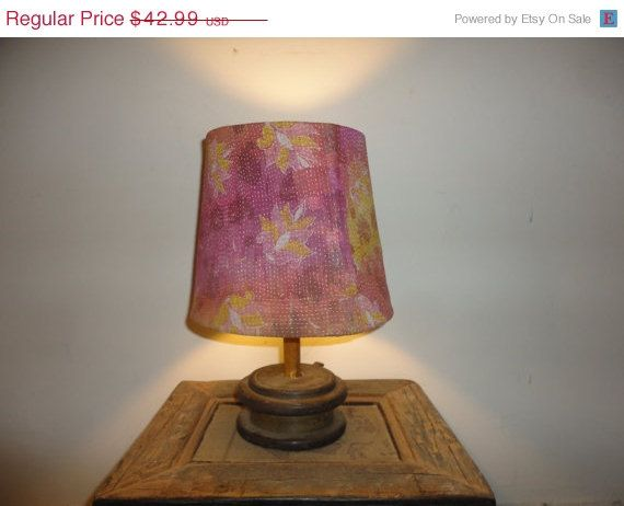 Recycled Handmade Table Lamp in Vintage Decor by MatureSourcing, $36.97