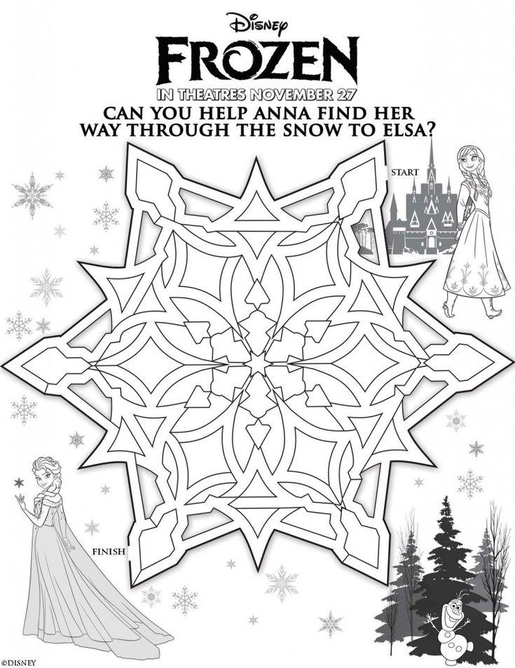 Disneys Frozen Free Printables For Kids