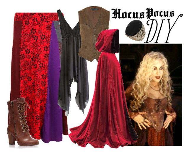"""Hocus Pocus: Sarah Sanderson"" by effyeahclothes ❤ liked on Polyvore featuring moda, Ralph Lauren, SANDERSON, Miss Selfridge, sanderson sister, diy halloween, sarah jessica parker, hocus pocus, it's a do it yourself halloween e witch"