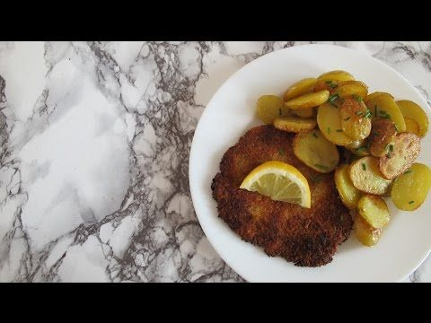 #1 Vegan Schnitzel II German Cuisine #veganized II The Vegan German - YouTube