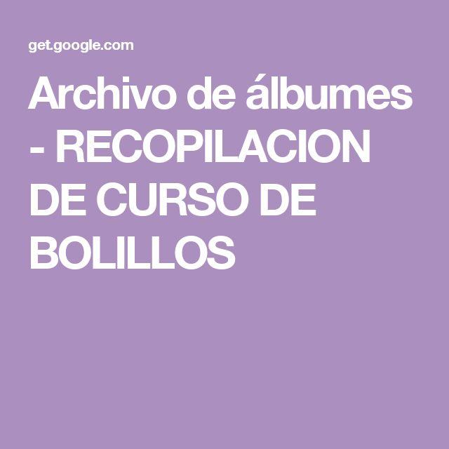 ESTO ES UN TESORO Archivo de álbumes - RECOPILACION DE CURSO DE BOLILLOS