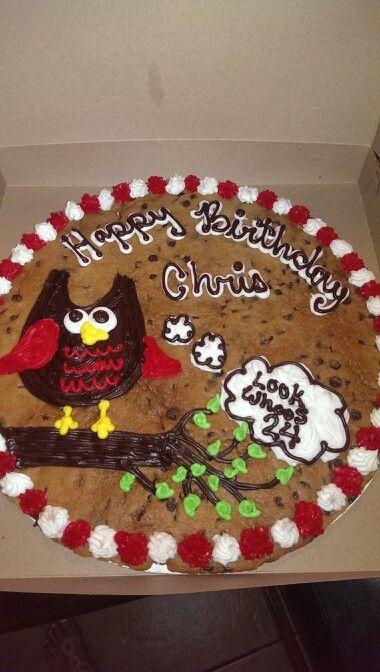 Cookie Cake Ideas For Boyfriend : Cookie cake for boyfriends birthday. Look whooos 24 ...