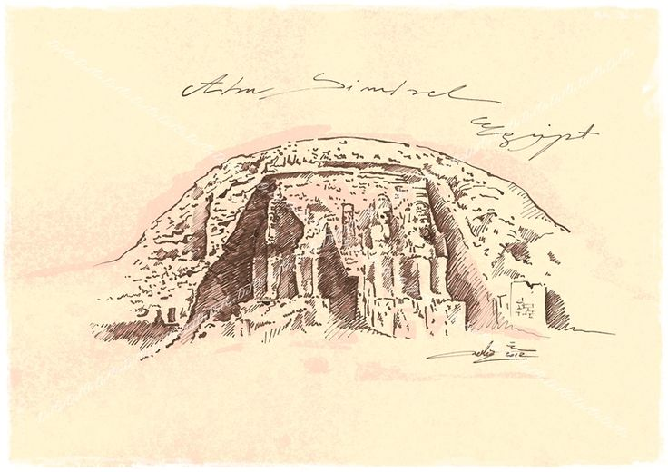 The Great Temple of Ramesses II Abu Simbel Nubia, Egypt