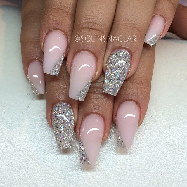 Glitter Acrylic Nail Art Gallery And Design Ideas Designs Image
