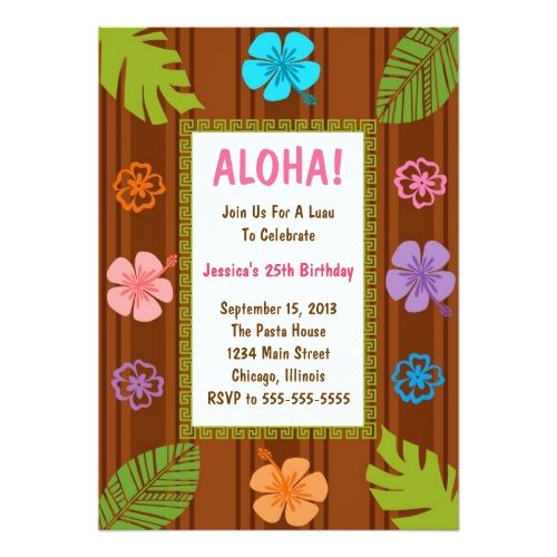 242 best Luau Birthday Party Invitation images on Pinterest Luau - best of birthday invitation card online maker