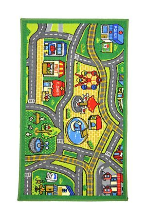 "Every little boy loves his cars. This is more than a rug, it's a road map too. Turn his floor into a race track. Measuring 67x110cm<div class=""pdpDescContent""><BR /><b class=""pdpDesc"">Dimensions:</b><BR />L67xW110 cm</div>"