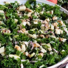 Kale Apple Walnut Salad