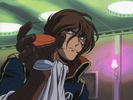 younger badass Captain Harlock