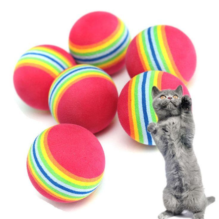 6Pcs Colorful Pet Cat Kitten Soft Foam Rainbow Play Balls Activity Toys Funny // FREE Shipping //     Buy one here---> https://thepetscastle.com/6pcs-colorful-pet-cat-kitten-soft-foam-rainbow-play-balls-activity-toys-funny/    #hound #sleeping #puppies