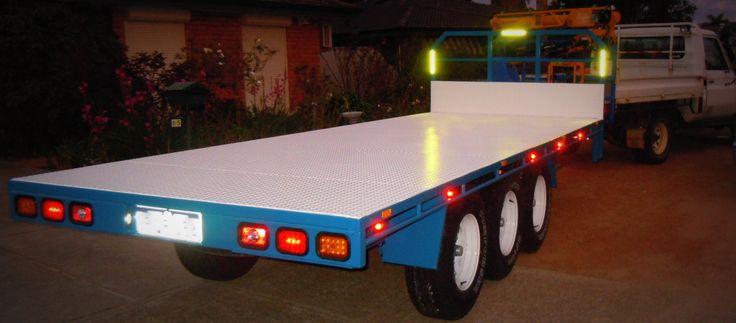 Clive & Mark's Tri Axle Flatbed Trailer - Custom Plan - www.trailerplans.com.au