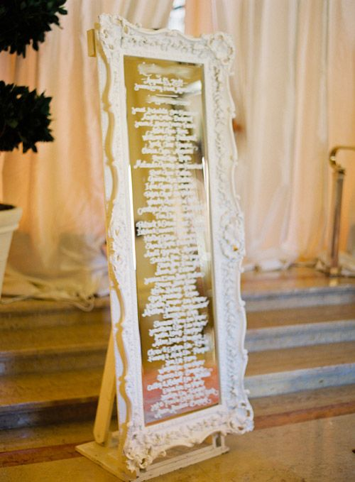 24 Best Images About Mirror Escort Card Display On