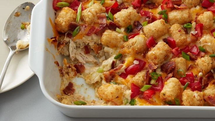 Chicken Bacon Ranch Tater Tots Casserole