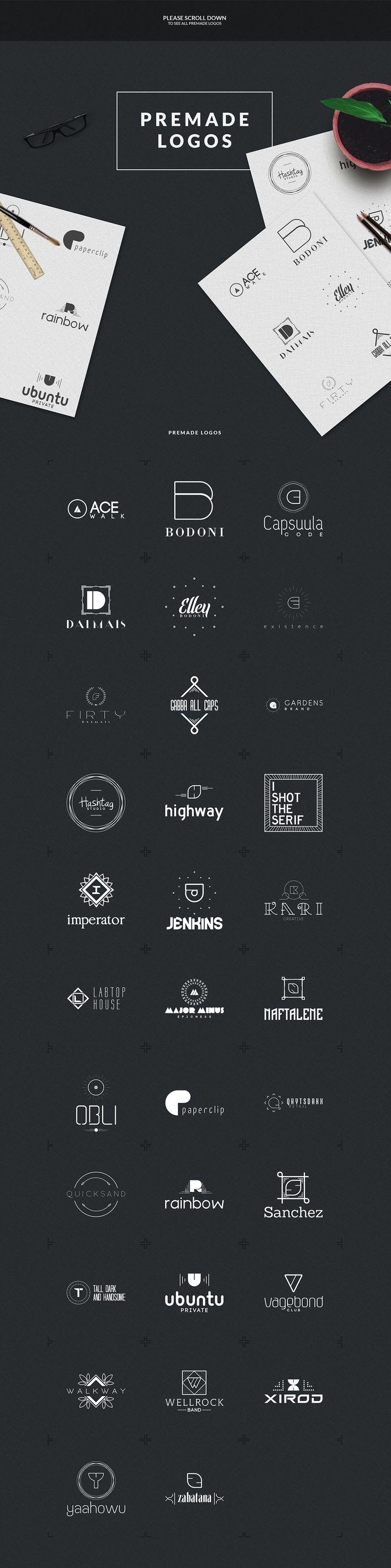 Logo Creation Kit * A-Z Edition by Vladfedotovv on @creativemarket