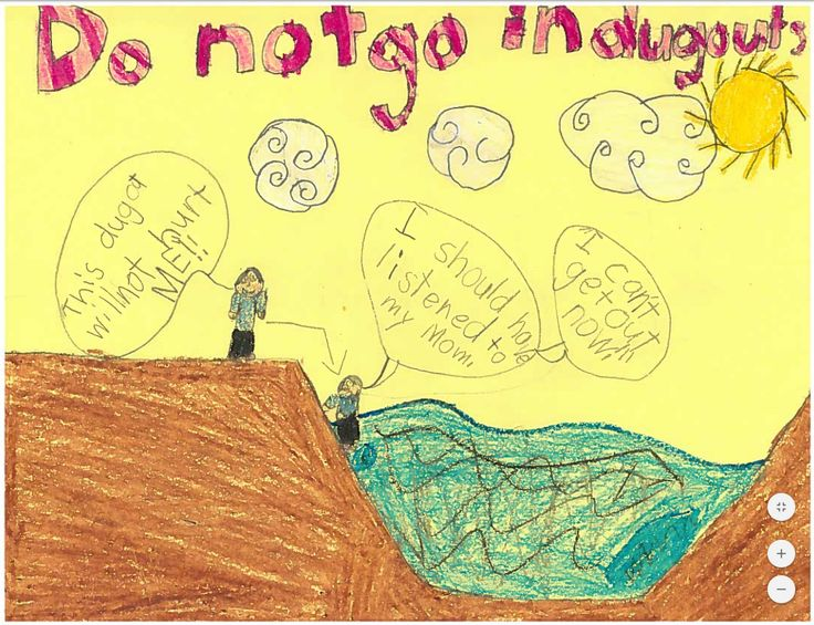 Gr 2 student's drawing from Grimshaw Alberta's, Holy Family School, after having the Gr 2, Boat's Float, I Don't Safety Smarts Presentation