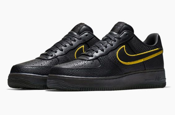 separation shoes f6298 c5d57 The Nike Air Force 1 Low Black Mamba Pays Tribute To Kobe Bryants Jersey  Retirement The Los Angeles Lakers will pay tribute to the Black Mamba by be  ...