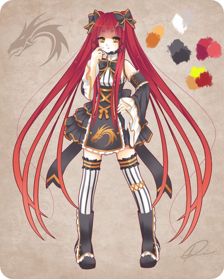 Anime Character Design Contest : Design contest entry by rini tan on deviantart dự án