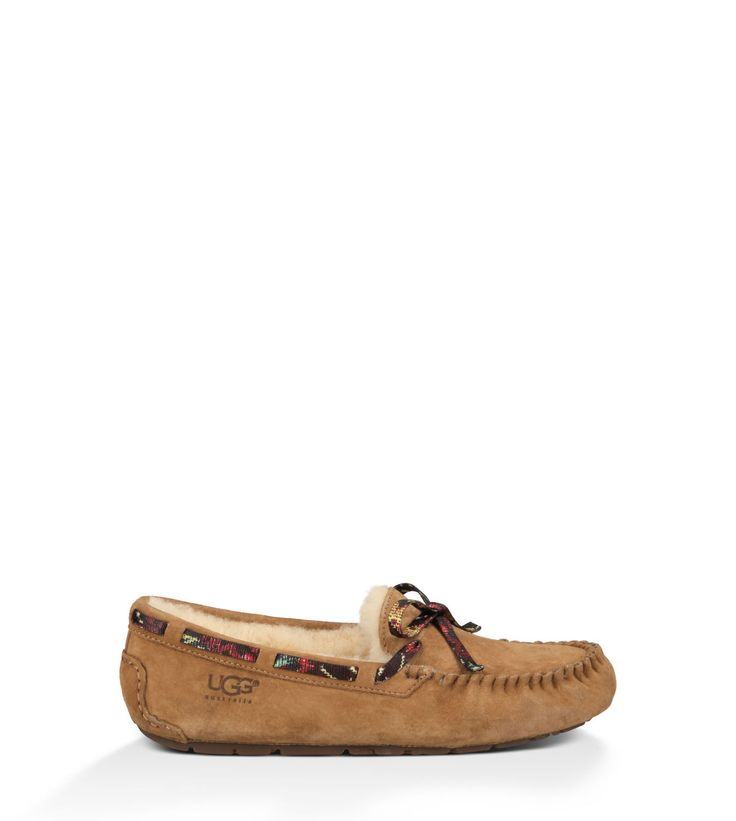 ugg dakota floral grunge womens chestnut