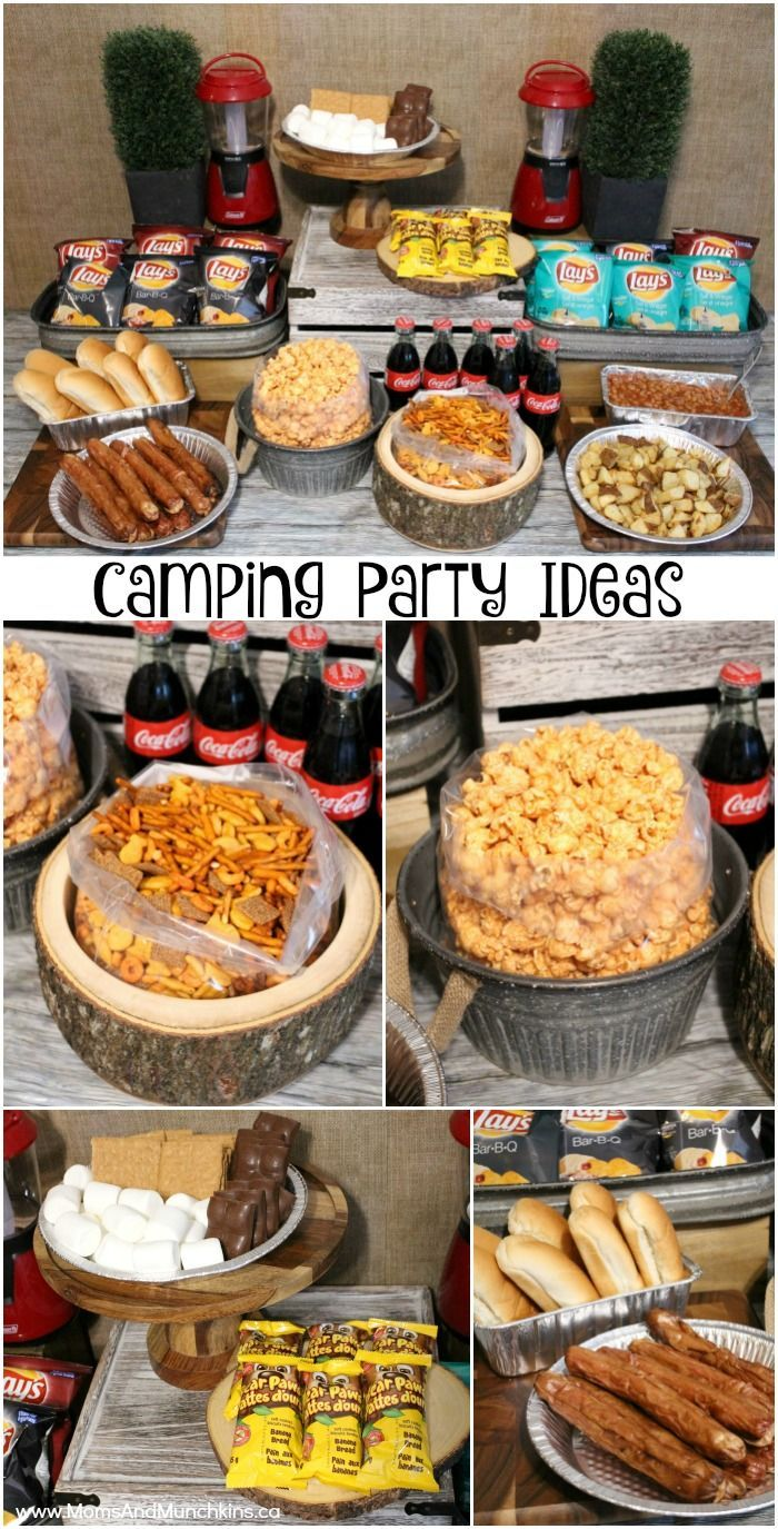 Backyard Birthday Campout - fun camping party ideas including camping recipes, free printable games for kids, s'mores desserts and more!